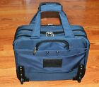 NICE Canvas Carry On Luggage Lap Top Case ATLANTIC Blue Rolling Overnight Bag