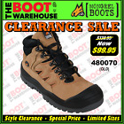 Mongrel Work Boots 480070 (Old) Tan Hiker Boot, Steel Safety Toe Cap.  CLEARANCE