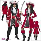 Deluxe Authentic Pirate Captain Mens Women Adults Pirates Fancy Dress Costume