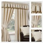 "Sundour Luxury Shetland Fully Lined 3"" Pencil Pleat Curtains Natural"