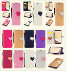 Love Magnetic buckle Leather strap mix color Cover Case Fr Samsung S8 S8P iphone