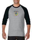Gildan Raglan Tshirt 3/4 Sleeve City State Country Iowa Seal Home Sweet Home