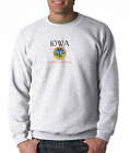 Gildan Crewneck Sweatshirt City State Country Iowa Seal Home Sweet Home