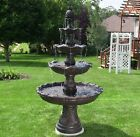 "Classic Outdoor Water Fountain 80"" Tall 4 Tier Garden Decor Patio Yard Large New"