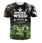 Funny 3D Print SMOKING Graphic Tee SMOK WEED Women's/Men's Unisex T-Shirt 6RT