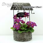 CLEARANCE SALE!! Wooden Planter WISHING WELL with Sign Patio Herb Flower Box