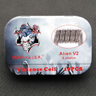 Authentic Demon Killer Alien and Staple Staggered Fused Clapton coil USA Ship