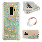 Silver Armor Quicksand Glitter Bling Liquid hard Cover Case For Samsung S8 S9 S7