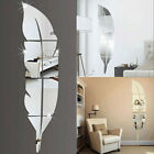 Fashion 3d Feather Mirror Wall Sticker Home Decoration Room Decal Mural Art Diy