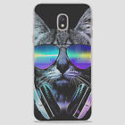 Cat With Blue Glasses And Headphones Case For iPhone Samsung Huawei Sony Xiaomi