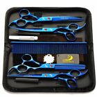 "7"" Salon Hair Scissors Set Barber Hair Cutting Shears Hairdressing Styling Kit"