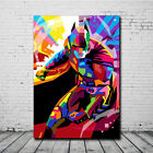 colorful abstract art - Colorful Batman Abstract Oil Painting Wall Art Print Canvas Home Bedroom Decor