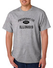 USA Made Bayside T-shirt USA State Property Of Illinois