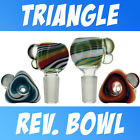Scientific Glass Lab Color Reversal Triangle Shape Bowl Ground Joint Slide