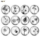 12pcs/lot Dandelion Theme Mixed Glass Charms 18mm Snap Button For Snap Jewelry