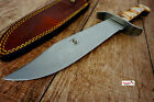 "Bone Edge 15"" BOWIE Hunting Knife Fixed Blade TACTICAL SURVIVAL Bone Handle NEW"