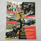 tb Pedal to the Metal Rusty Wallace Nascar Champ TV Promo Ad Pinup Poster Vtg