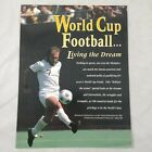 tb World Cup Football (Soccer) US 1994 Vintage TV Sports Promo Ad Pinup Poster