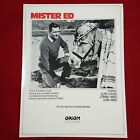 tb Mister Ed Talking Horse Comedy vtg TV Show Promo Ad Pinup Poster Flyer 1984