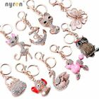 Multi Rhinestone Key Chains Keyring Handbag Charm For Fashion Women Lanyard