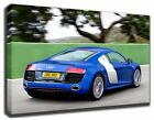AUDI R8 CANVAS/POSTER GALLERY-WRAP ART ROOM DECOR STRETCHED