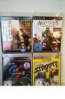 The Last of Us, Gran Turismo 5, Fifa Street 3 & Assassins Creed 2 PS3 Spiele