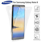 For Samsung Note 8 360° Full Body Clear TPU Front + Back Protection Case Cover