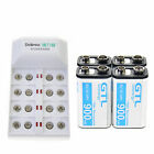 rechargeable 9v batteries with charger - 4 pcs Durable 9V 9 Volt 900mAh Power Ni-Mh Rechargeable Battery with Charger