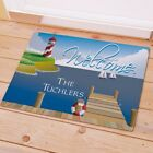 Personalized Welcome Doormat Lighthouse Family Name Doormat Custom Name 2 szs