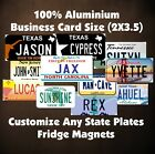 50 States Any Text Personalize Custom Fridge Magnets License Plate Refrigerator