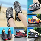 Men Athletic Water Shoes Aqua Summer Socks Beach Slip-on/Breathable/Quick-drying