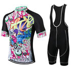 Cycling Jersey Sets Half Sleeve Men Breathable Bike Clothing T-Shirt S-3XL