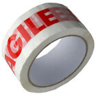 "FRAGILE Tape LOW NOISE Printed Parcel Packing 48mm x 66m 2"" Rolls *MULTI-LISTING"
