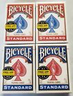 Bicycle Playng Cards 4 Sealed Standard Size Packs