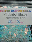 ALPHABET Shape Glitter~You Choose Colors~Nail Art•Face•Festival•Crafts