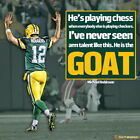 "056 Aaron Rodgers - Green Bay Packers NFL Player 14""x14"" Poster"
