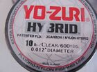 NEW-YO-ZURI HYBRID Fluorocarbon Fishing Line 600yd CLEAR COLOR PICK YOUR SIZE