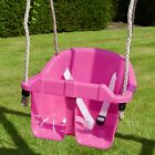 Children's Toddler/Baby Adjustable Bucket Swing Seat by Rebo - 3 Colours