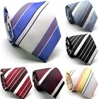 Mens Dads Classic Multi Color Striped Business Casual Necktie & Hanky Set EO