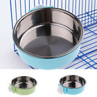 Coop Hanging Cup Dog Dish Crate Water Food Bowl Feeder Stainless Steel 2 Colors