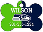 Seattle Seahawks Custom Pet Id Dog Tag Personalized w/ Name & Number $9.87 USD on eBay