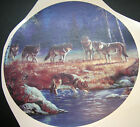 Wolves By Lake at Night 3 Sizes/Lone Wolf In Snow 2 Sizes Waterslide Decals