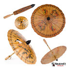 Asia Chinese Parasol Oil Paper Bamboo Umbrella Decor Prop Photo Oriental Vintage