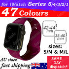 Sports Silicone Bracelet wrist band For Apple Watch Series 5 4 3 2-38 40 42 44mm