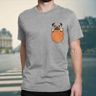 "Women's Men's ""Pug Dog Pocket"" Funny Graphic Printed Tee T-Shirts XS~4XL"