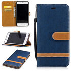 Jeans PU Leather Wallet Flip Stand Case Cover For iPhone 5/5s/6/6s/7/7s/8/X 13