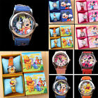 Cute Minnie Mouse Cartoon Leather Quartz WristWatch Girl Kids Fashion Watches image