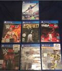 Gently Used Lot of 7 PS4 games... Madden, NBA, W2K16 17, Wrestling