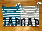 2 (Two) NWT Gap Women's Distressed Logo Knit Top Casual Shirts