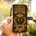 My Favorite Bottled Water Is Beer Phone Case Wallet Funny Craft Drink